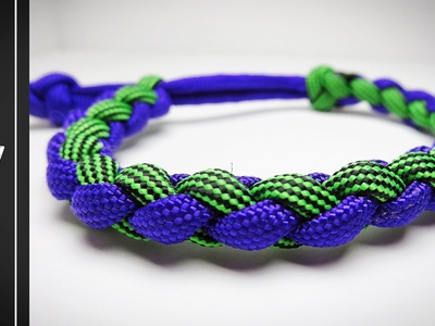 How to make a Four Strand Round Paracord Bracelet [MAD MAX STYLE]