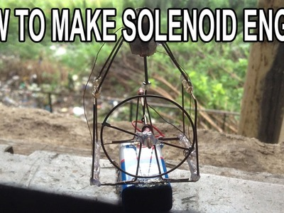 How To Make A Mini Solenoid Engine - FUN PROJECT!!!