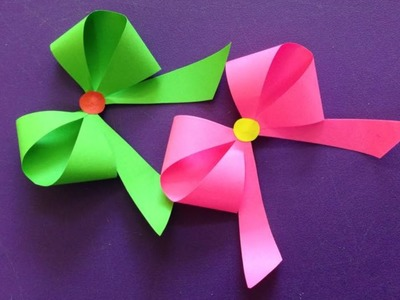 How to make a paper Bow.Ribbon | Easy origami Bow.Ribbons for beginners making | DIY-Paper Crafts