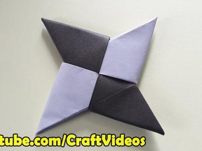How To Make A Paper Ninja Star Easy | Origami Ninja Star Easy
