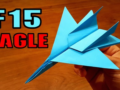 How To Make an F15 Paper Airplane | Origami F15 Jet Fighter Plane