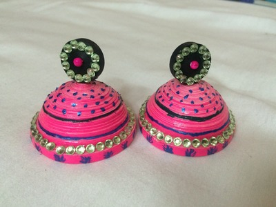 How to make earrings with quilling paper at home
