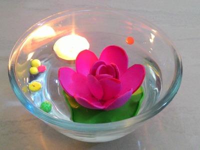 How to make floating lotus using foam sheet