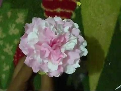 How To Make Flowers In The Shortest Time By Using Tissue Paper