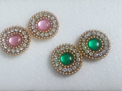 How to make Kundan Stone Quilled stud to match Traditional and daily wear- Tutorial