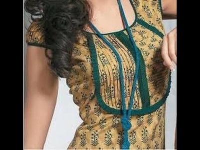How to make piping on neckline | Underground piping neck design cutting and stitching