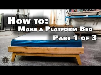 How to make queen size platform bed Part 1 of 3 - The Base assembly (JordsWoodShop)