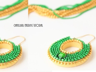 How to make Quilled Chandbali earrings.Paper quilling Chandbali earring tutorial
