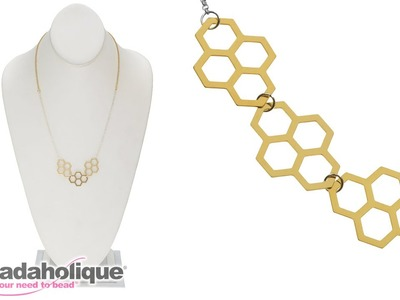 How to Make the Geometric Honeycomb Necklace