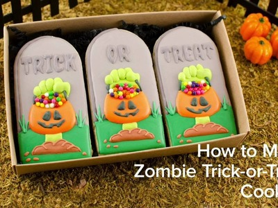 How to Make Zombie Trick-or-Treat Cookies