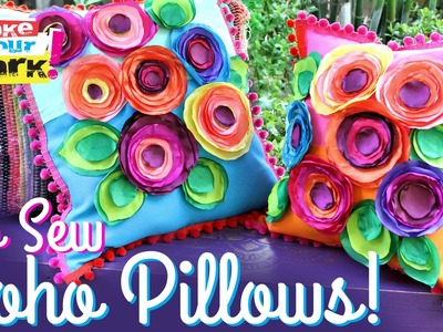 How to: No Sew Flower Pillows