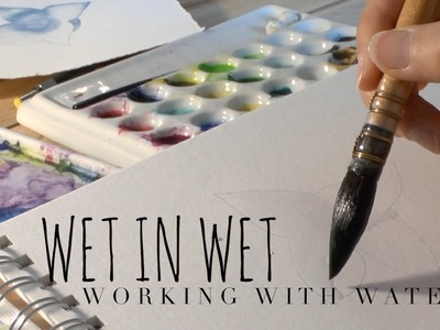 How to Use Watercolor: How much Water in Watercolor