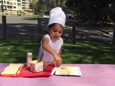 Ishika's Little Kitchen Episode-1 - How to make kids favourite Fairy Bread