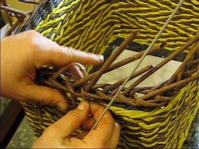 Recycling baskets. How to make the edging. Part 3.