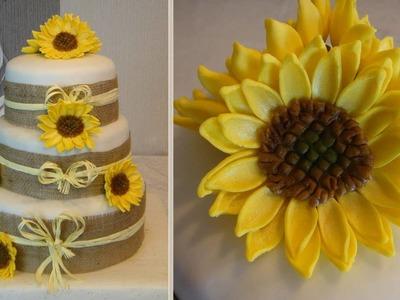 Sunflowers Cake and How to do fondant Sunflower