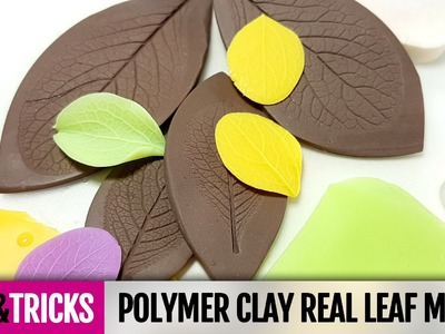 Tips&Tricks How to make and how to use Polymer clay real leaf mold. Detailed Video Tutorial