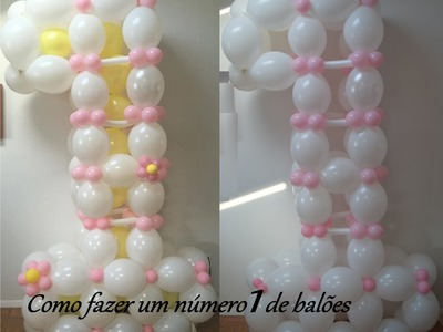1st Birthday Balloon Decoration Ideas. How to make a  number one balloon sculpture for kids