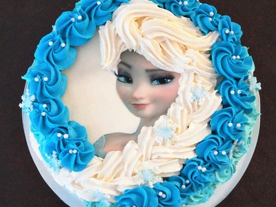 Cake decorating - how to make elsa buttercream cake - Sugarella Sweets