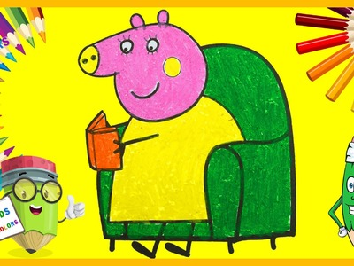 #Coloring Peppa Pig read book - How to color #Peppa Pig, Peppa Pig Coloring Book [Part 20]