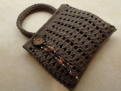 CROCHET How To #Crochet Easy Handbag Purse TUTORIAL #338