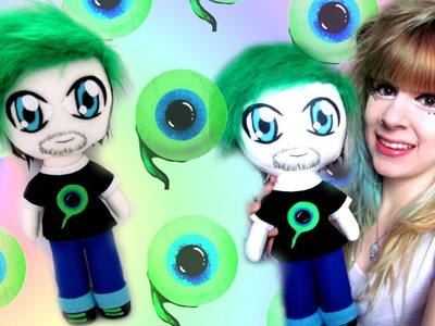 CUTE EXCLUSIVE TUTORIAL: How to make a JackSepticEye plushie- Cloctor Creations