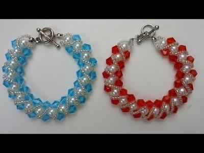 Easy bracelet making for beginners .How to make an elegant bracelet in less than 1hour