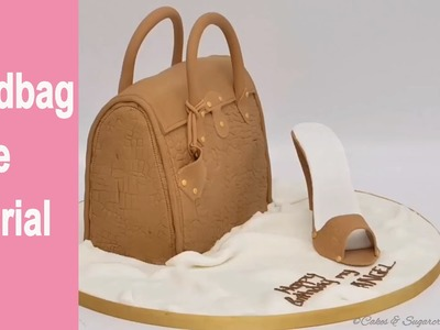 HANDBAG CAKE-: How to make a handbag cake tutorial by Busi Christian-Iwuagwu