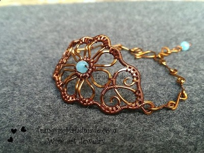 Handmade jewelry tutorials- Wire Jewelry Lessons - DIY - How to make flower bracelet