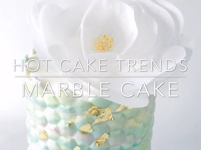 HOT CAKE TRENDS 2016 Marble Cake with Wafer Paper Flower - How to make by Olga Zaytseva