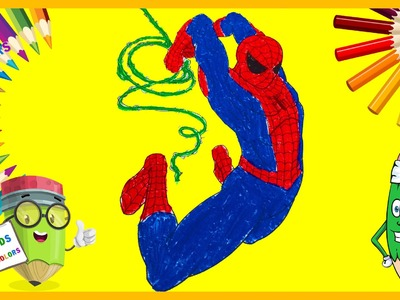 How to color Spiderman - Spiderman Coloring Pages for kids, #Coloring Book [Part 7]KIDS AND COLORS