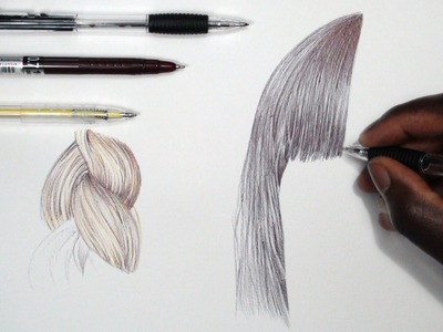 How To Draw Realistic Hair - Tutorial - DeMoose Art