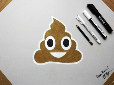 How To Draw the Poop Emoji  - Drawing by Denis