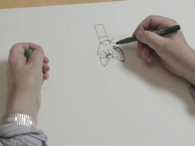 How to draw Willy Wonka with Quentin Blake