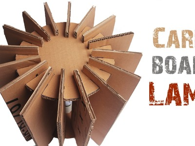 How to make a CARDBOARD LAMP with Just5mins