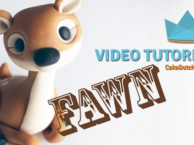 How to make a cute Fawn Cake Topper - Cake Decorating Tutorial