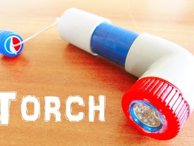 How to Make a Flashlight.Torch - using DC Motor
