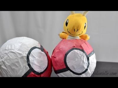 How to Make a Paper Mache Pokeball