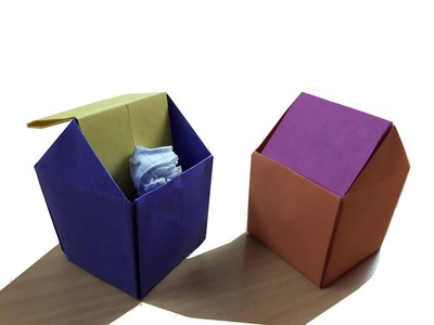 How to make a Paper Trash BIn?  (for beginner)