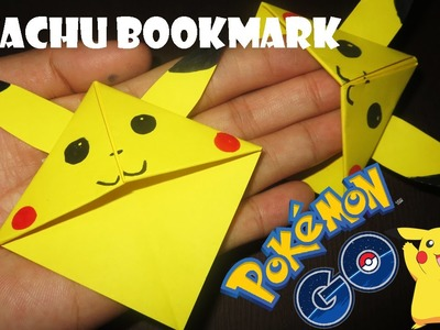 How to make an Origami Pikachu Bookmark - HandiCrafts idea Origami