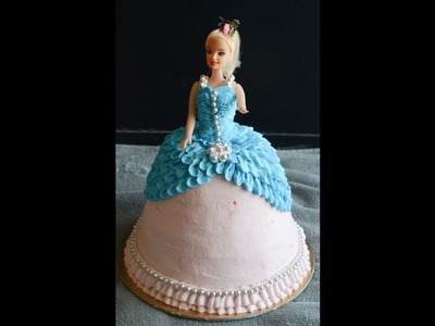 How To Make. Decorate Barbie Cake. Doll Cake - Gayathri's Cook Spot