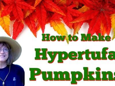 How To Make Hypertufa Pumpkins