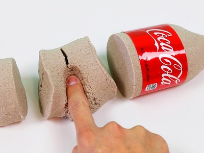 How to Make Kinetic Sand Coca Cola Bottle Shape | DIY Fun & Easy Sand Art!