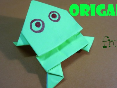 How to make Origami Frog  beautiful -  Frog can jump jump - HandiCrafts idea Origami