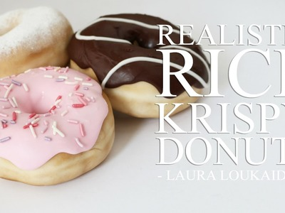 How to Make Realistic Rice Krispy Donuts - Laura Loukaides