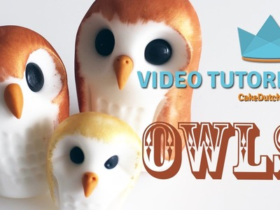 How to make some cute Owls - Cake Decorating Tutorial