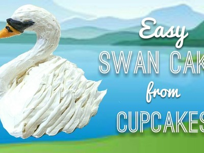 How to make swan mini cakes out of cupcakes - buttercream cake & cookie decorating tutorial