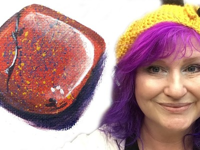 How to paint Rocks and Stones #bigartquest #29