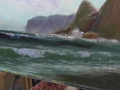 How to paint sea. Easy painting techniques of landscape oil painting Seascape painting with Sakharov