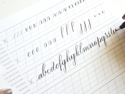 How to write the lowercase alphabet in brush pen calligraphy