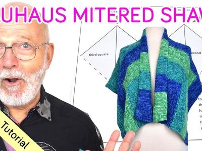 Knitting Tutorial - Bauhaus Mitered Shawl